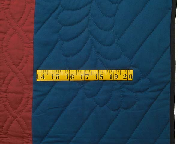 Blue Burgundy and Multi Amish Variable Stars Quilt Photo 6
