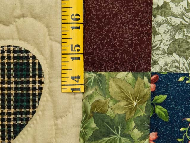 Moss Burgundy and Multi Hearts and Nine Patch Quilt Photo 5