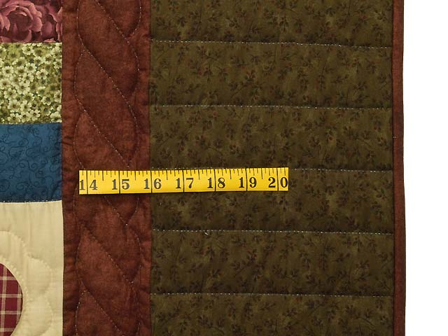 Moss Burgundy and Multi Hearts and Nine Patch Quilt Photo 6