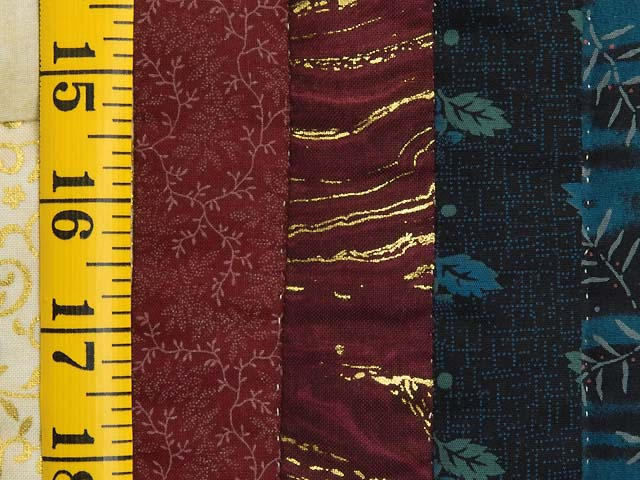 Navy Burgundy and Golden Tan Lone Star Log Cabin Quilt Photo 6