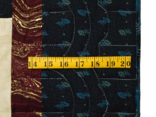 Navy Burgundy and Golden Tan Lone Star Log Cabin Quilt Photo 7