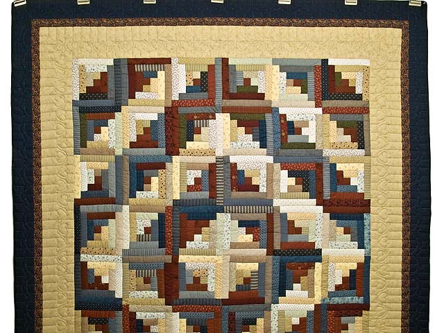Country Colors Log Cabin Quilt Photo 2