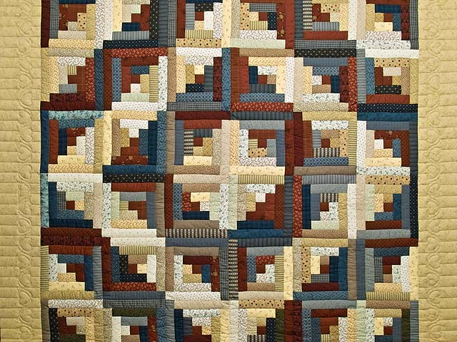 Country Colors Log Cabin Quilt Photo 3