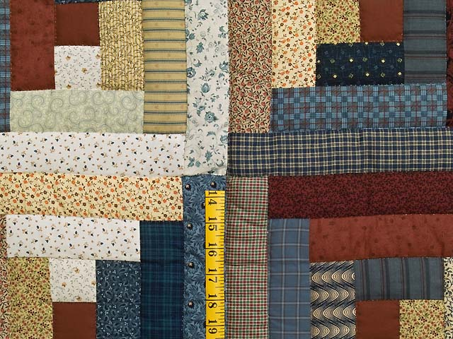 Country Colors Log Cabin Quilt Photo 5
