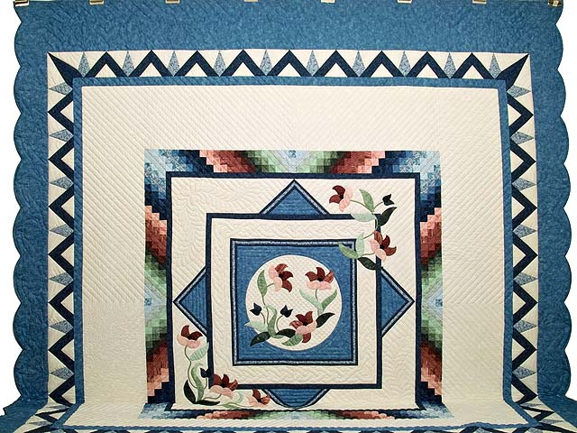 King Blue and Multi Rainbow Reflections Quilt Photo 2