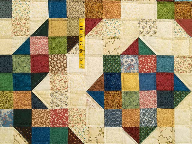 Tan and Multicolor Scrapaholic Quilt Photo 5