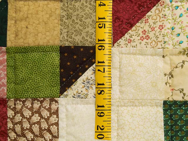 Tan and Multicolor Scrapaholic Quilt Photo 6
