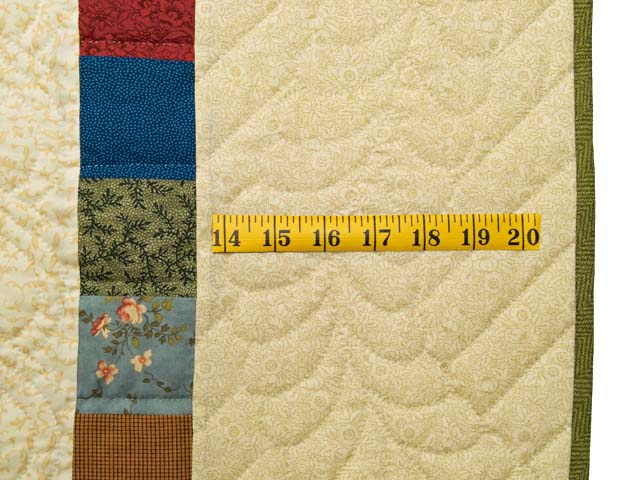 Tan and Multicolor Scrapaholic Quilt Photo 7