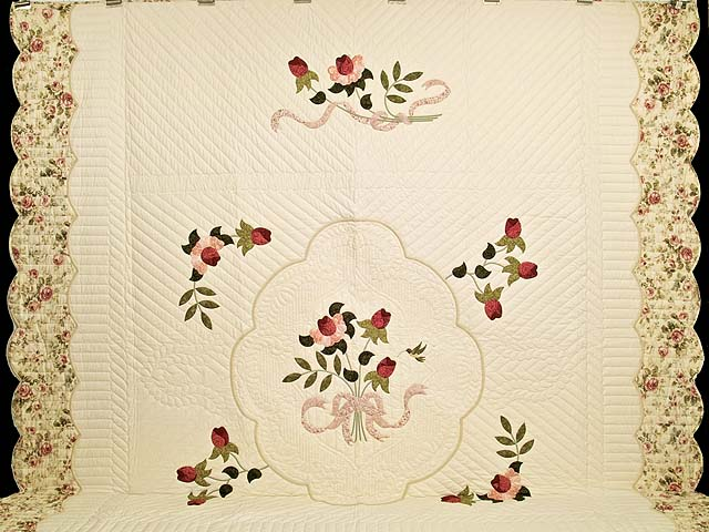 King Rose and Ivory Lancaster Treasures Quilt Photo 2
