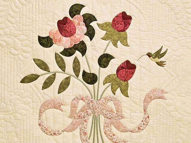 King Rose and Ivory Lancaster Treasures Quilt Photo 4