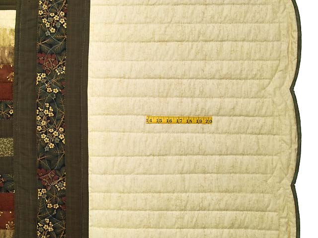 King Moss Green Burgundy and Golden Cream Lone Star Trip Quilt Photo 7