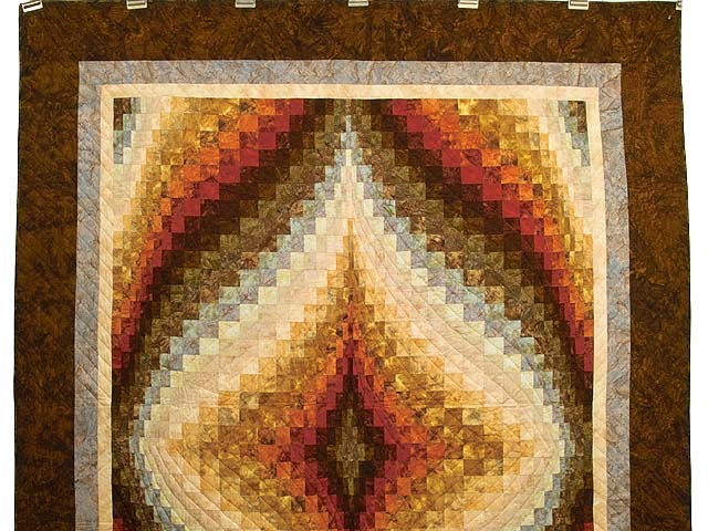 Hand Painted Diamond Bargello Quilt Photo 2