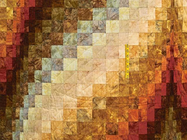 Hand Painted Diamond Bargello Quilt Photo 4