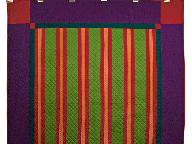 Midwestern Amish Split Bars Quilt Photo 2