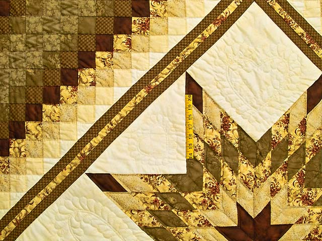 Gold Moss and Burgundy Lone Star Trip Quilt Photo 4
