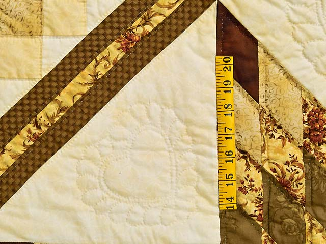 Gold Moss and Burgundy Lone Star Trip Quilt Photo 5