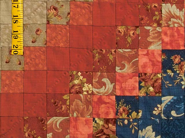 Blue Red and Tan Color Splash Quilt Photo 6