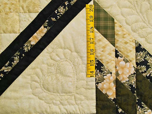 Moss Gold Black and Peach Lone Star Trip Quilt Photo 5