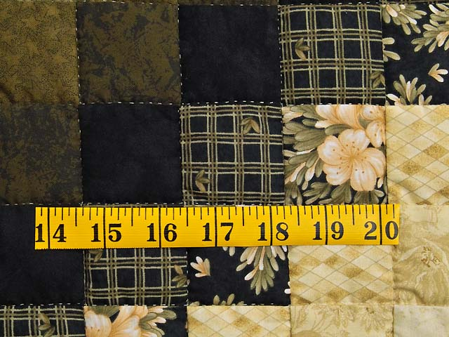 Moss Gold Black and Peach Lone Star Trip Quilt Photo 6