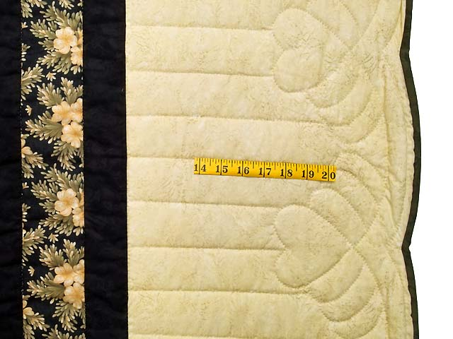 Moss Gold Black and Peach Lone Star Trip Quilt Photo 7