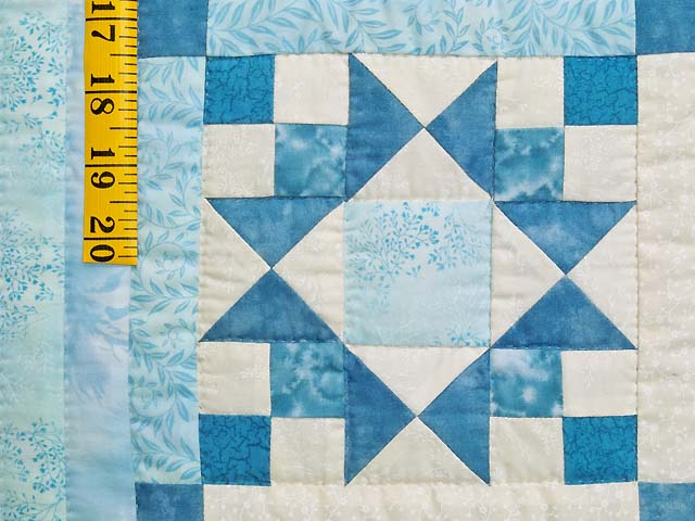 King Pastel Blue and Ivory Stars in the Cabin Quilt Photo 5