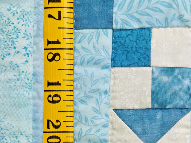 King Pastel Blue and Ivory Stars in the Cabin Quilt Photo 6