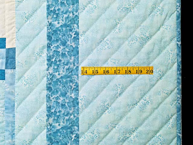 King Pastel Blue and Ivory Stars in the Cabin Quilt Photo 7