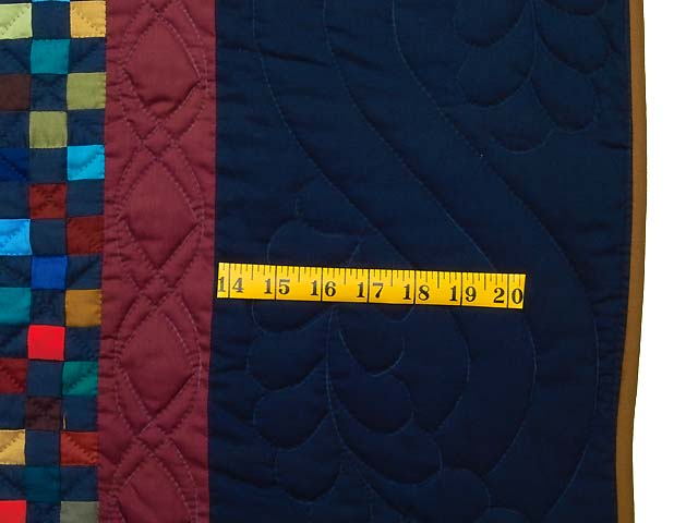 Amish Postage Stamp Quilt Photo 7