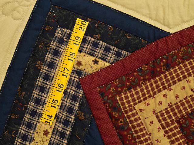 Navy Burgundy and Tan Star Spin Quilt Photo 5