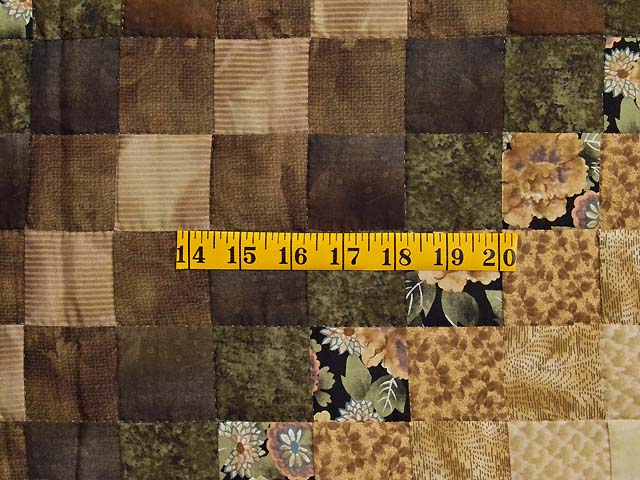 Moss Mauve and Golden Tan Lone Star Trip Quilt Photo 6