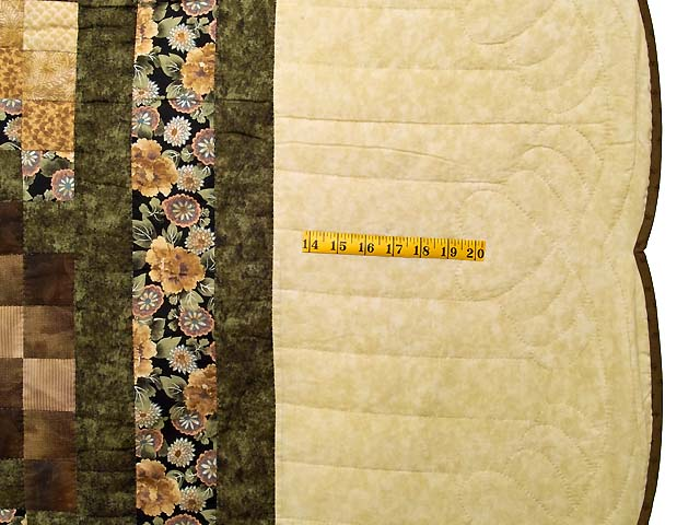 Moss Mauve and Golden Tan Lone Star Trip Quilt Photo 7