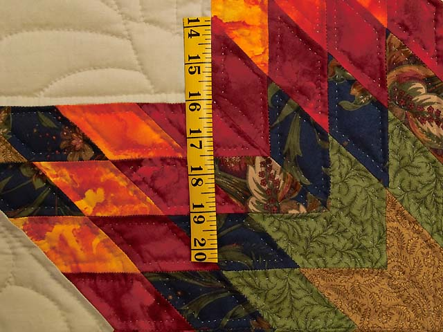 King Fire Red Green and Gold Star Quest Quilt Photo 5
