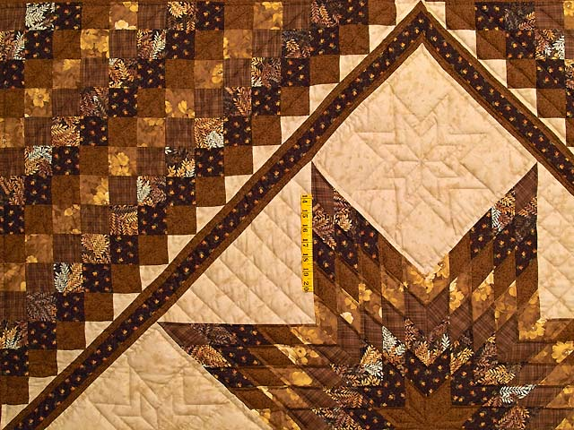 Brown and Gold Lone Star Trip Quilt Photo 4