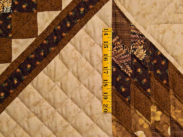Brown and Gold Lone Star Trip Quilt Photo 5