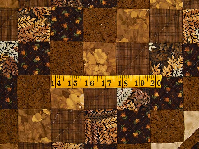 Brown and Gold Lone Star Trip Quilt Photo 6