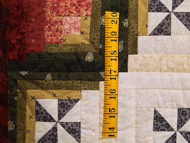 King Plum Gold and Burgundy Breeze Log Cabin Quilt Photo 6