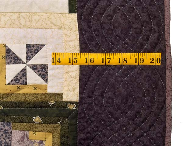 King Plum Gold and Burgundy Breeze Log Cabin Quilt Photo 7