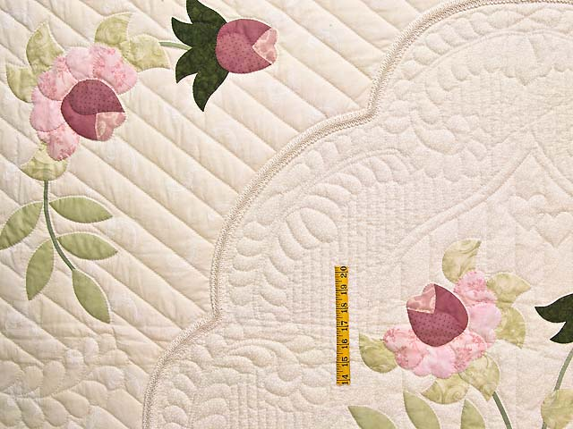 King Ivory and Dusty Rose Lancaster Treasures Quilt Photo 4