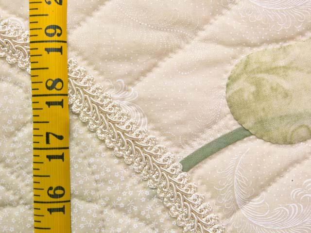 King Ivory and Dusty Rose Lancaster Treasures Quilt Photo 6