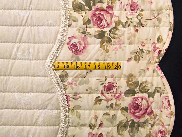 King Ivory and Dusty Rose Lancaster Treasures Quilt Photo 7