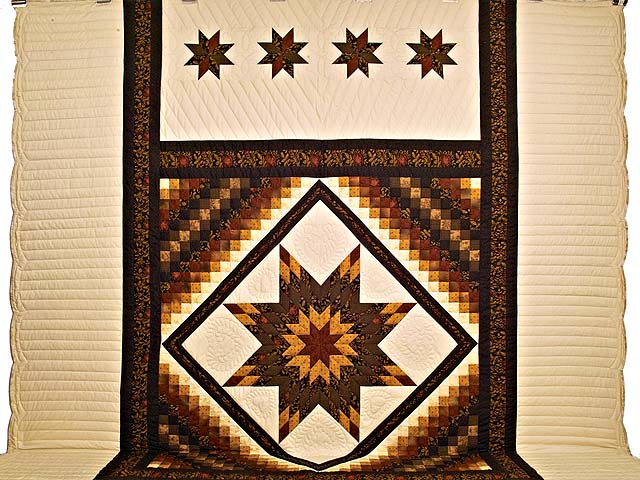 King Brick Gold and Black Lone Star Trip Quilt Photo 2