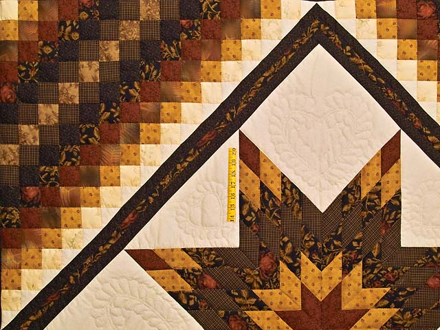 King Brick Gold and Black Lone Star Trip Quilt Photo 4