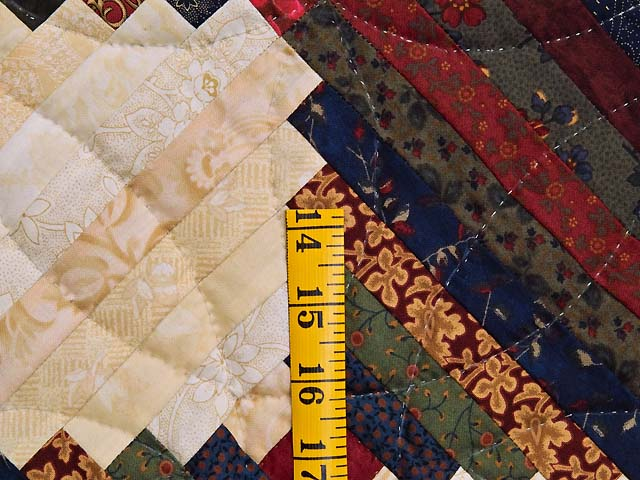 King Tans and Multicolor Log Cabin on the Point Quilt Photo 5