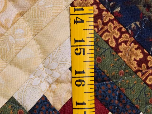 King Tans and Multicolor Log Cabin on the Point Quilt Photo 6