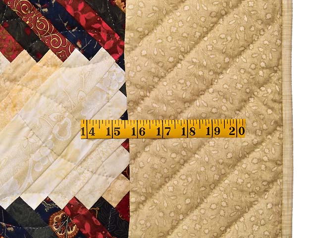 King Tans and Multicolor Log Cabin on the Point Quilt Photo 7