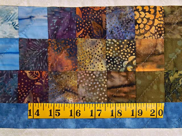 Blue Navy and Gold Rainbow Reflections Quilt Photo 6