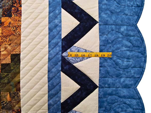 Blue Navy and Gold Rainbow Reflections Quilt Photo 7