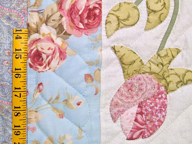 Blue and Rose I Promised You a Rose Garden Quilt Photo 6