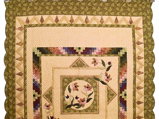 Moss Neutrals and Mauve Rainbow Reflections Quilt Photo 2