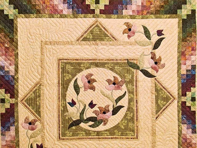 Moss Neutrals and Mauve Rainbow Reflections Quilt Photo 3